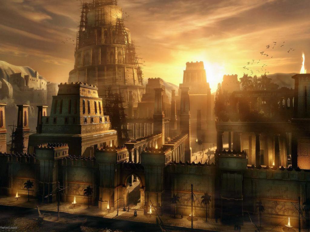 cidade murada com torres