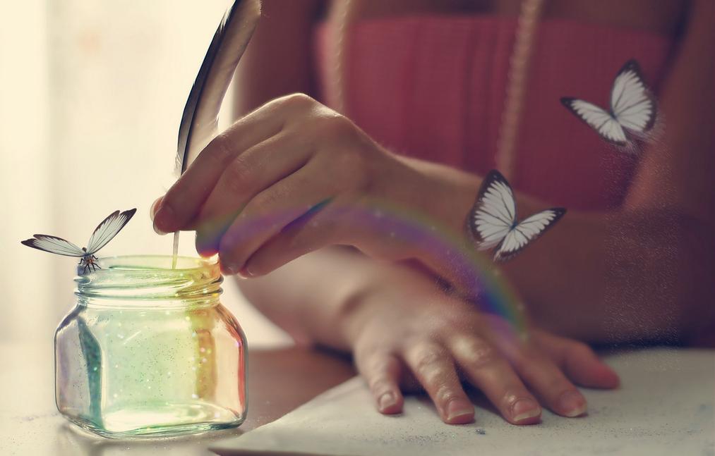 escrevendo mágica