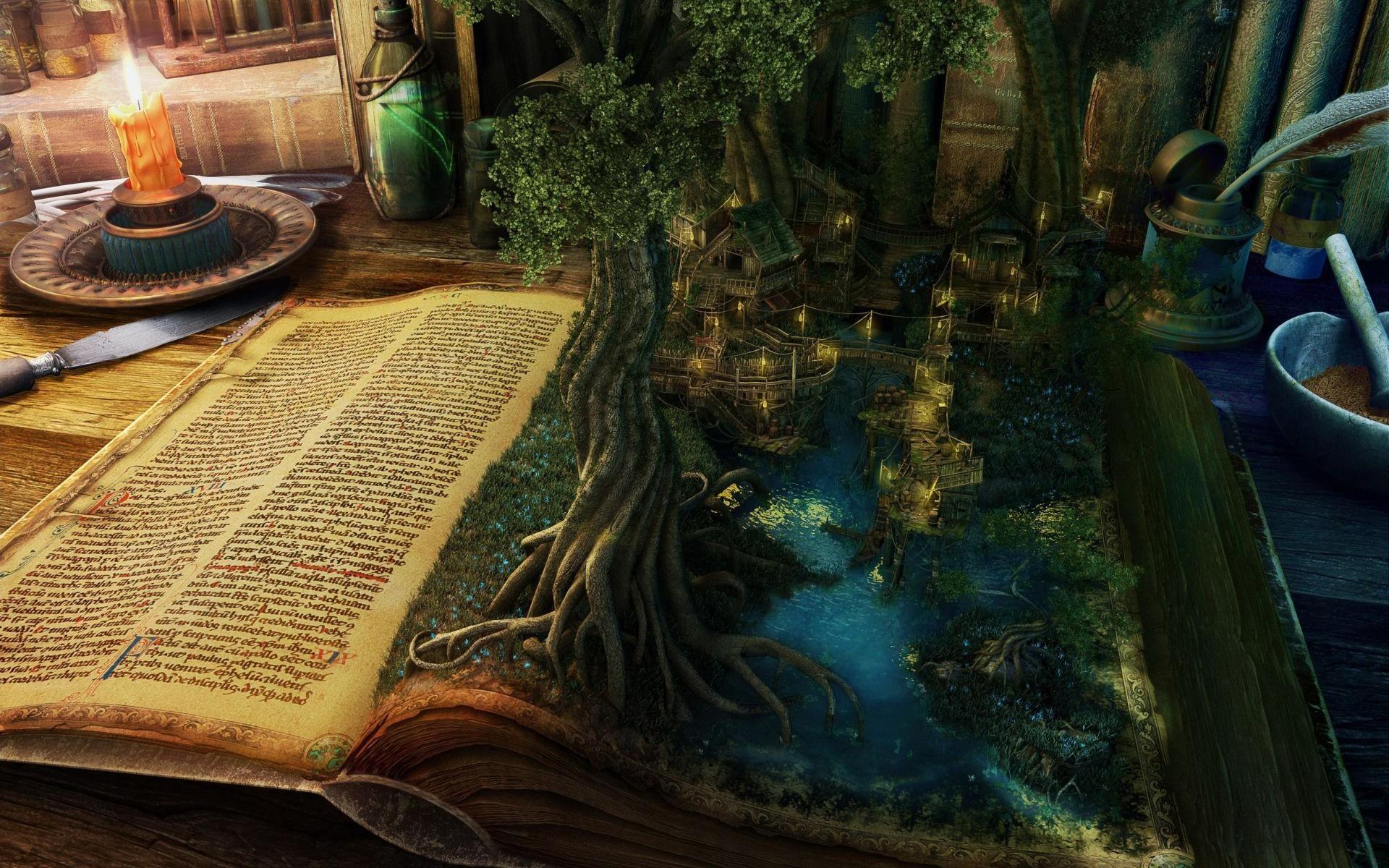 floresta saindo do livro