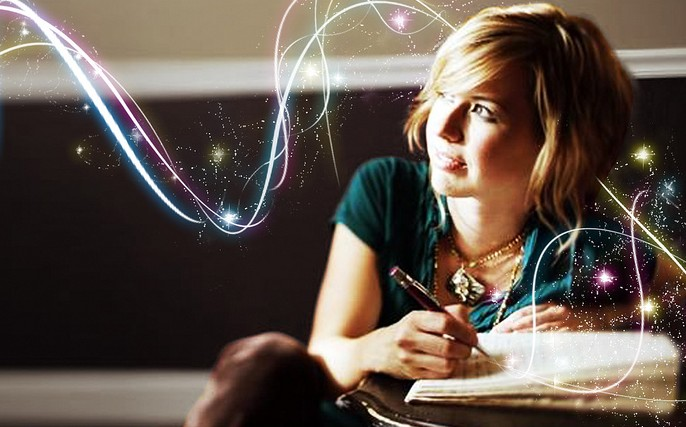 escrevendo magica