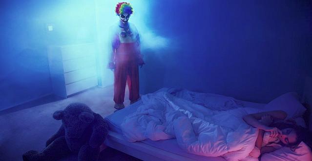 pesadelo palhaço assustador