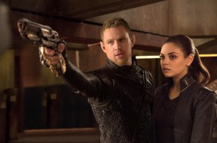 "Channing Tatum and Mila Kunis in a scene from the motion picture ""Jupiter Ascending."""