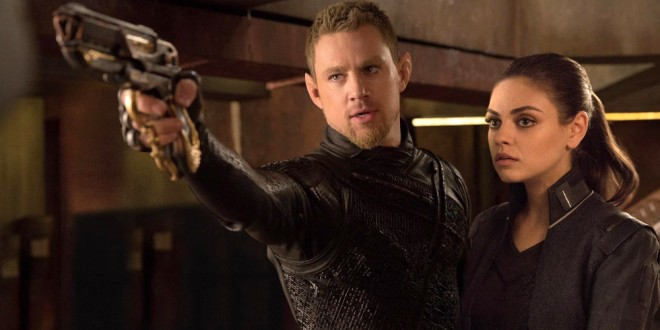 """Channing Tatum and Mila Kunis in a scene from the motion picture """"Jupiter Ascending."""""""